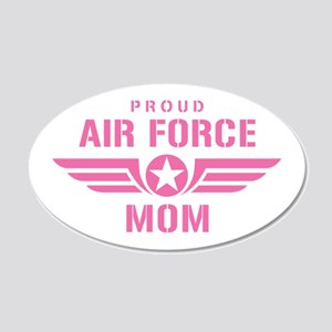 Proud Air Force Mom W [pink] 20x12 Oval Wall Decal